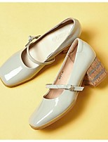 Women's Heels Spring / Summer / Fall Heels Leather Outdoor Chunky Heel Others Pink / Gray Others