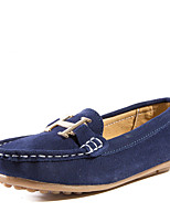 Boy's Flats Spring/Summer/Fall Moccasin/Comfort/Styles/Round Toe/Closed Toe/Flats Suede Casual Flat HeelBowknot/Buckle