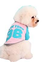 Katzen / Hunde Pullover / Hemd Rot / Gelb / Blau / Rosa Hundekleidung Winter / Frühling/Herbst Buchstabe & Nummer / Einfarbig