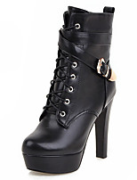 Women's Shoes Boots Spring/Fall/Winter Heels/Platform/Fashion Boots/Bootie/Round Toe Office Career/Party Evening