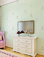 Modern Rustic 3D Three-Dimensional Wall Paper Fashion Non-Woven Wallpapers Pink Romantic Flower Wallpaper