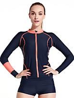 Sport Damen Neoprenanzug Oberteil Atmungsaktiv Rasche Trocknung Anatomisches Design Neopren Taucheranzug Langärmelige Oberteile-Tauchen