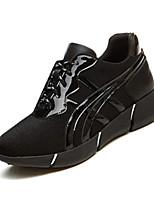 Damen-Sneaker-Lässig-Stoff-Flacher Absatz-Komfort-Schwarz Gold