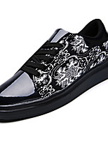 Men's Flats Spring / Summer / Fall / Winter Comfort PU / Fabric Casual  Blue / Purple / Black and White Walking