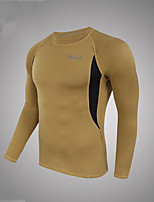Hiking Jersey Men's Sweat-wicking Polyester Green / Black / Brown M / L / XL / XXL Camping / Hiking-Sports