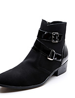 Women's Boots Fall / Winter Comfort Suede Casual Flat Heel Slip-on Black Sneaker