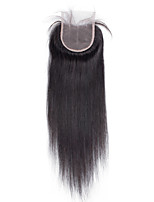 8inch to 20inch Black Hand Tied Straight Human Hair Closure Medium Brown Swiss Lace about 30g gram Average Cap Size