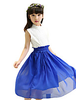 Girl's Casual/Daily Patchwork DressOthers Summer Blue / Green / Red / Yellow
