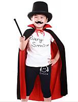 Cloak More Costumes Halloween Black & Red Solid Nonwoven Fabric Cloak 80CM