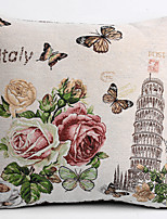 белье крышка подушки / кейс, сотканный традиционный / классический цветок падающая башня особенность