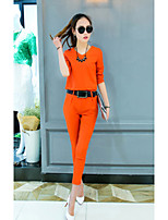 Women's Casual/Daily Simple Fall Set PantSolid