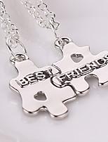 2pcs/set Europe Fashion Best Friends Puzzles Necklaces & Pendants Colar Friendship Pendent Collares Gift For Men Women