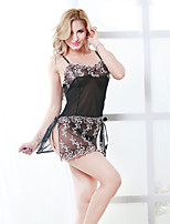 Women Lace Lingerie Nightwear,Sexy Patchwork-Medium Lace Black Women's
