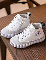 Unisex Sneakers Spring / Fall Flats Leather Casual Flat Heel Others Black / White / Gray Others