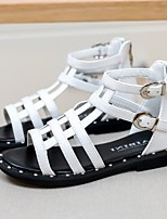 Girl's Sandals Summer Sandals / Open Toe Leatherette Casual Flat Heel Others Black / White Others