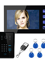 Ennio Touch Key 7 Lcd RFID Password Video Door Phone Intercom System Wth IR Camera  Access Control System