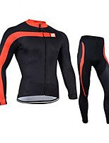 Sports Cycling Jersey with Tights Unisex Long Sleeve BikeBreathable / Quick Dry / Windproof / Anatomic Design / Ultraviolet Resistant /