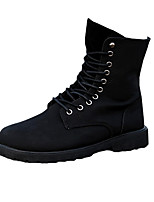 Men's Boots Fall / Winter Comfort Fabric Casual Flat Heel  Black / Brown Sneaker