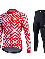 Fastcute® Велокофты и лосины Жен. / Муж. / унисекс Длинные рукава ВелоспортДышащий / Быстровысыхающий / Влагопроницаемость / 3D-панель /