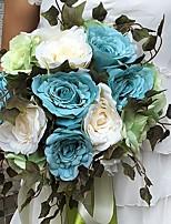 Fleurs de mariage Rond Roses Bouquets Mariage / Le Party / soirée Satin Env.30cm