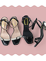 Women's Sandals Spring / Fall Comfort Leather Casual Stiletto Heel Others Black Others