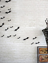 12pcs Black 3D DIY PVC Ghost Bat Wall Sticker Decal Home Halloween Decoration Party Decoration DIY Wall Sticker