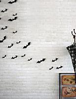12pcs Black 3D DIY PVC Ghost Bat Wall Sticker Decal Home Halloween Decoration Party Decoration DIY Wall Sticker