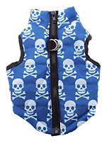 Dog Coat Blue Dog Clothes Winter Skulls Casual/Daily