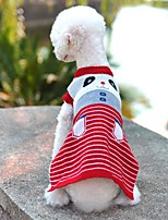 Cat Dog Sweater Red Blue Pink Gray Dog Clothes Winter Spring/Fall Cartoon Cute Casual/Daily