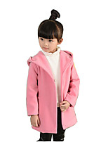 Girl's Casual/Daily Solid Down & Cotton PaddedCotton / Rayon Winter / Spring / Fall Pink / Red / Gray