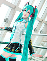 HatsuneMiku Cosplay Wig Long Length Green Color High Quality Temperature Fashion Hit Style Halloween Custome Wigs