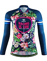 Sports Cycling Jersey Women's / Unisex Long Sleeve Bike Breathable / Quick Dry / Moisture Permeability / Back Pocket / Sweat-wicking