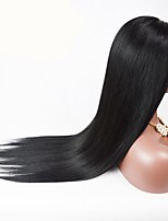10-26inch Natural Straight Mongolian Human Hair Natural Color Full Lace Wig