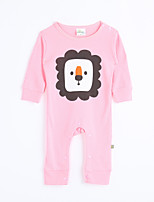 Girl's Casual/Daily Print Overall & JumpsuitCotton Fall Pink