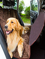 Dog Car Seat Cover Pet Mats & Pads Waterproof Foldable Brown Plush