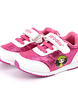 Girl's Sneakers Spring / Fall Comfort Fabric Casual Flat Heel Magic Tape Pink / Red Sneaker