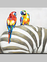 Hand Painted Animal Oil Painting On Canvas Wall Art Pictures For Home Decoration With Stretched Frame Ready To Hang