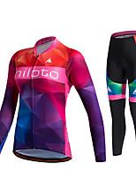 Miloto® Maillot et Cuissard Long de Cyclisme Femme Unisexe Manches longues VéloRespirable Séchage rapide Perméabilité à l'humidité La