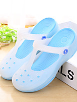 Women's Sandals Summer Sandals / Round Toe PVC Casual Flat Heel Others Blue / Green / Pink / Purple Others