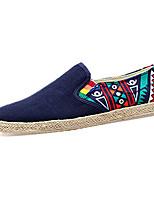 Herren-Sneaker-Outddor / Lässig-Leinwand-Flacher Absatz-Komfort-Schwarz / Blau / Weiß