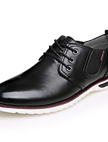 Men's Flats  Comfort / Round Toe / Closed Toe Casual Flat Heel Lace-upBlack / Blue / Brown /