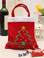 Creative Christmas Tree Pattern Santa Claus Candy Bag Handbag Home Party Decoration Gift Bag Christmas