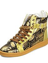 Men's Fashion Boots PU Dress / Casual Flat Heel Buckle / Lace-up Black / Silver / Gold Walking EU39-43