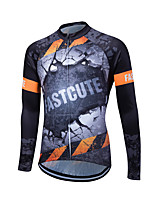 Fastcute® Cycling Jersey Men's Long Sleeve Bike Breathable / Comfortable / Lightweight Materials / Back Pocket / Sweat-wicking Jersey