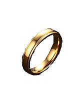 Band Rings,Jewelry Stainless Steel Fashionable Daily / Casual Gold 1pc,6 / 7 / 8 / 9 / 10 / 11 Men