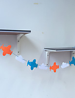 Garland Bunting Han Edition Plane Clouds Polypropylene  Non-woven Fabrics Birthday Party Decorations Home Decoration