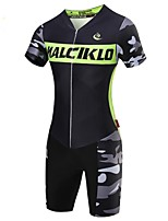 2017New MALCIKLO Men Luminous V-neck Close-fitting Breathable Camouflage Riding Suits Match Training Riding Jersey