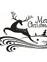 Merry Christmas Deer Wall Sticker Home Shop Store Chirstmas Party Window Stickers Decoration