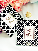 Beter Gifts Wedding dcor 2pcs Glass Coasters Patterns / Cheveron / Geometric / Bridesmaids / Bachelorette