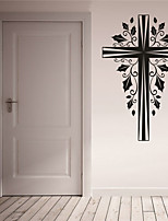 AYA DIY Wall Stickers Wall Decals Christmas Festival The Cross Style PVC Stickers 42*65cm